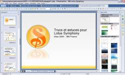 Interface Lotus Symphony Presentations